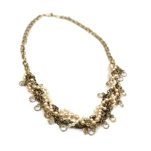 Pearl & Chain Twisted Statement Necklace